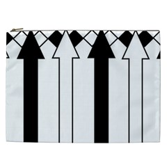 Funny Black and White Stripes Diamonds Arrows Cosmetic Bag (XXL)
