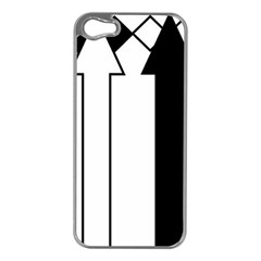 Funny Black And White Stripes Diamonds Arrows Apple Iphone 5 Case (silver) by yoursparklingshop