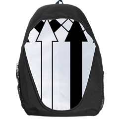 Funny Black and White Stripes Diamonds Arrows Backpack Bag