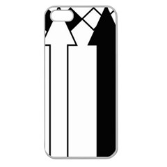 Funny Black and White Stripes Diamonds Arrows Apple Seamless iPhone 5 Case (Clear)