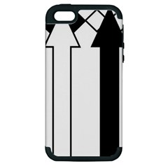 Funny Black and White Stripes Diamonds Arrows Apple iPhone 5 Hardshell Case (PC+Silicone)