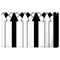 Funny Black and White Stripes Diamonds Arrows Apple iPad 3/4 Flip Case