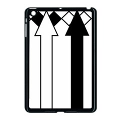 Funny Black and White Stripes Diamonds Arrows Apple iPad Mini Case (Black)