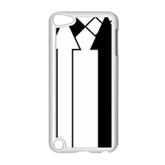 Funny Black and White Stripes Diamonds Arrows Apple iPod Touch 5 Case (White)