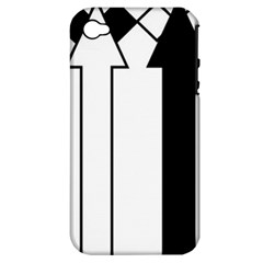 Funny Black and White Stripes Diamonds Arrows Apple iPhone 4/4S Hardshell Case (PC+Silicone)