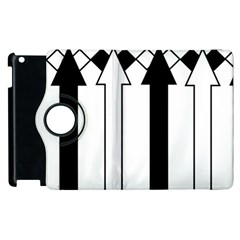 Funny Black and White Stripes Diamonds Arrows Apple iPad 3/4 Flip 360 Case