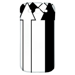 Funny Black and White Stripes Diamonds Arrows Samsung Galaxy S3 S III Classic Hardshell Back Case
