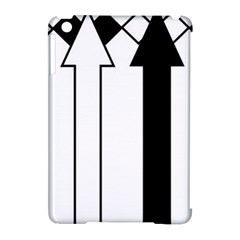 Funny Black and White Stripes Diamonds Arrows Apple iPad Mini Hardshell Case (Compatible with Smart Cover)