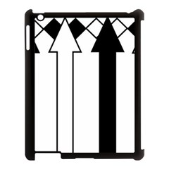 Funny Black and White Stripes Diamonds Arrows Apple iPad 3/4 Case (Black)