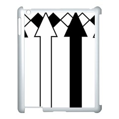 Funny Black and White Stripes Diamonds Arrows Apple iPad 3/4 Case (White)