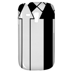 Funny Black and White Stripes Diamonds Arrows Samsung Galaxy S3 MINI I8190 Hardshell Case