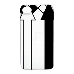 Funny Black and White Stripes Diamonds Arrows Apple iPhone 4/4S Hardshell Case with Stand