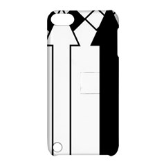 Funny Black and White Stripes Diamonds Arrows Apple iPod Touch 5 Hardshell Case with Stand