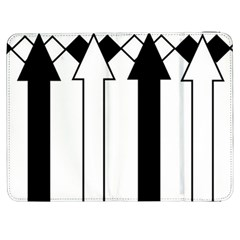 Funny Black And White Stripes Diamonds Arrows Samsung Galaxy Tab 7  P1000 Flip Case