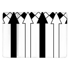 Funny Black and White Stripes Diamonds Arrows Samsung Galaxy Tab 10.1  P7500 Flip Case