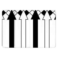 Funny Black and White Stripes Diamonds Arrows Samsung Galaxy Tab 8.9  P7300 Flip Case