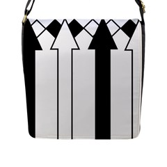 Funny Black And White Stripes Diamonds Arrows Flap Messenger Bag (l)  by yoursparklingshop