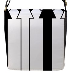 Funny Black and White Stripes Diamonds Arrows Flap Messenger Bag (S)