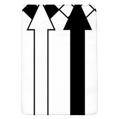 Funny Black and White Stripes Diamonds Arrows Flap Covers (S)
