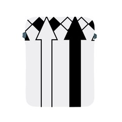 Funny Black and White Stripes Diamonds Arrows Apple iPad 2/3/4 Protective Soft Cases