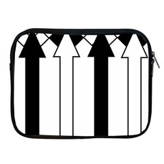 Funny Black and White Stripes Diamonds Arrows Apple iPad 2/3/4 Zipper Cases