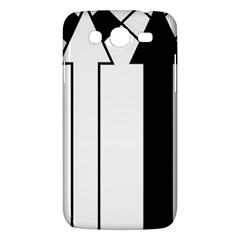 Funny Black and White Stripes Diamonds Arrows Samsung Galaxy Mega 5.8 I9152 Hardshell Case