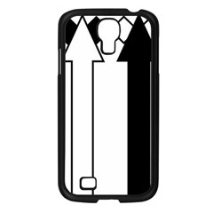 Funny Black and White Stripes Diamonds Arrows Samsung Galaxy S4 I9500/ I9505 Case (Black)