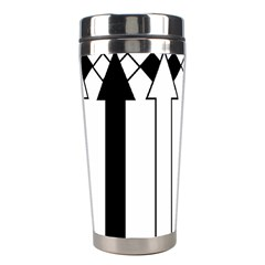 Funny Black And White Stripes Diamonds Arrows Stainless Steel Travel Tumblers