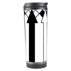 Funny Black and White Stripes Diamonds Arrows Travel Tumbler