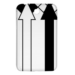 Funny Black and White Stripes Diamonds Arrows Samsung Galaxy Tab 3 (7 ) P3200 Hardshell Case