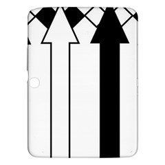 Funny Black and White Stripes Diamonds Arrows Samsung Galaxy Tab 3 (10.1 ) P5200 Hardshell Case
