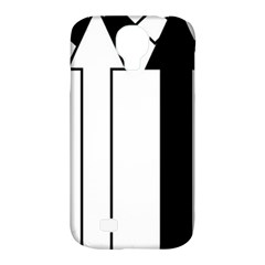 Funny Black and White Stripes Diamonds Arrows Samsung Galaxy S4 Classic Hardshell Case (PC+Silicone)