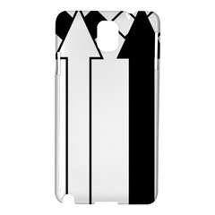 Funny Black and White Stripes Diamonds Arrows Samsung Galaxy Note 3 N9005 Hardshell Case
