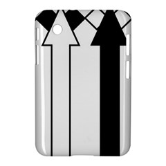 Funny Black and White Stripes Diamonds Arrows Samsung Galaxy Tab 2 (7 ) P3100 Hardshell Case
