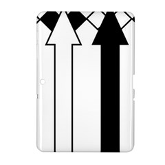 Funny Black and White Stripes Diamonds Arrows Samsung Galaxy Tab 2 (10.1 ) P5100 Hardshell Case