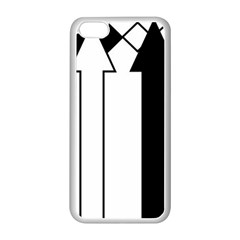 Funny Black and White Stripes Diamonds Arrows Apple iPhone 5C Seamless Case (White)