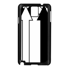 Funny Black And White Stripes Diamonds Arrows Samsung Galaxy Note 3 N9005 Case (black)