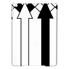 Funny Black and White Stripes Diamonds Arrows iPad Air Hardshell Cases