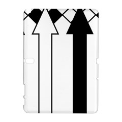 Funny Black and White Stripes Diamonds Arrows Samsung Galaxy Note 10.1 (P600) Hardshell Case
