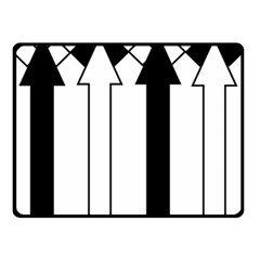 Funny Black and White Stripes Diamonds Arrows Double Sided Fleece Blanket (Small)