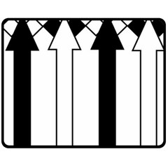 Funny Black and White Stripes Diamonds Arrows Double Sided Fleece Blanket (Medium)
