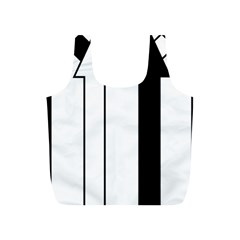 Funny Black and White Stripes Diamonds Arrows Full Print Recycle Bags (S)
