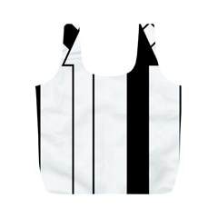 Funny Black and White Stripes Diamonds Arrows Full Print Recycle Bags (M)