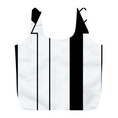Funny Black and White Stripes Diamonds Arrows Full Print Recycle Bags (L)