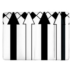 Funny Black and White Stripes Diamonds Arrows Samsung Galaxy Tab Pro 12.2  Flip Case