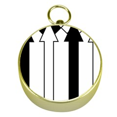 Funny Black and White Stripes Diamonds Arrows Gold Compasses