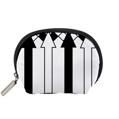 Funny Black and White Stripes Diamonds Arrows Accessory Pouches (Small)