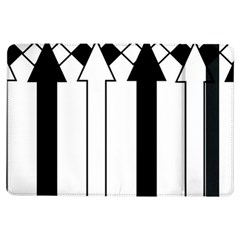 Funny Black and White Stripes Diamonds Arrows iPad Air Flip