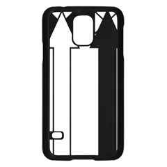 Funny Black and White Stripes Diamonds Arrows Samsung Galaxy S5 Case (Black)