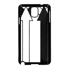 Funny Black and White Stripes Diamonds Arrows Samsung Galaxy Note 3 Neo Hardshell Case (Black)